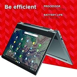Lenovo Chromebook Flex 5 13″ Laptop, FHD (1920 x 1080) Touch Display, Intel Core i3-10110U Processor, 4GB DDR4 OnBoard RAM, 64GB SSD, Intel Integrated Graphics, Chrome OS, 82B80006UX, Graphite Grey
