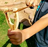 Adventure Awaits! - 4 PACK Hand-Carved Wooden Slingshots with great handle holds - Each Sling Shot is hand made and has a burned wood look! Each Slingshot (x4) is together in one package