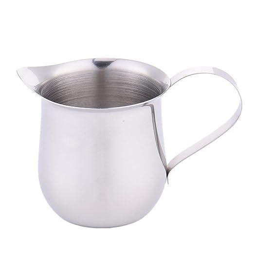 Jarra de acero inoxidable con espumador de leche para hacer café ...