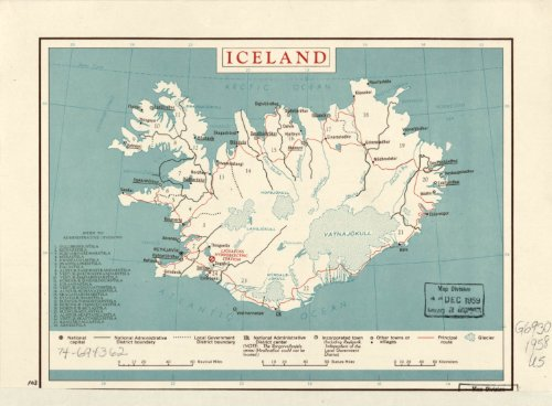Amazon.com: Map Poster - Iceland. - 24\
