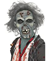 Smiffys Men's Decaying Zombie Mask with Hair