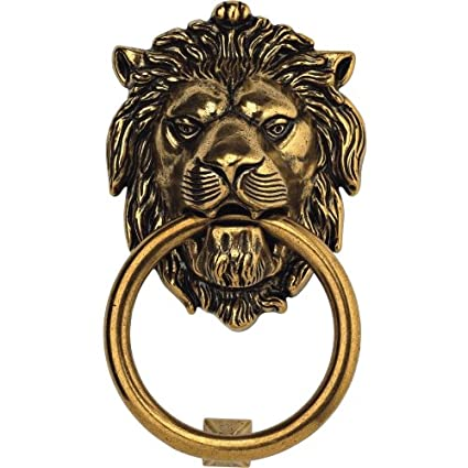 Bosetti Marella 100977.07 Brass Door Knocker, 4.29-by-7.48-Inch, Antique - Bosetti Marella 100977.07 Brass Door Knocker, 4.29-by-7.48-Inch
