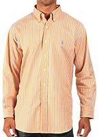 Ralph Lauren - Chemise rayée habillée - coupe classique - orange/bleu/blanc - homme