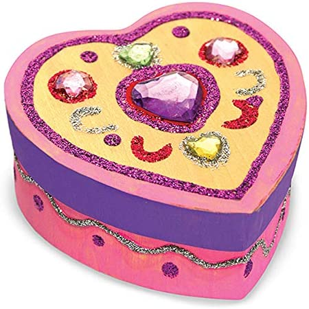 Melissa /& Doug Decorate-Your-Own Wooden Heart Box Craft Kit