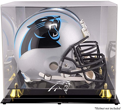 Mounted Memories Carolina Panthers Golden Classic Helmet Display Case and Mirror Back