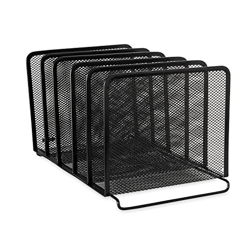 rolodex-mesh-collection-stacking-sorter-5-section-black-22141