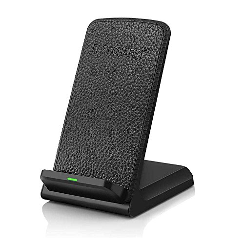 Fast Wireless Charger,Wireless Charging Pad Stand for All Mobile Phone &Samsung Galaxy S8 S8 Plus S7 (No AC Adapter) (Fast Charger)