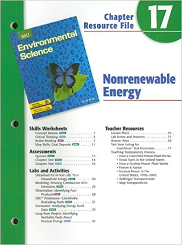 Holt Environmental Science Chapter 17 Resource File: Nonrenewable ...
