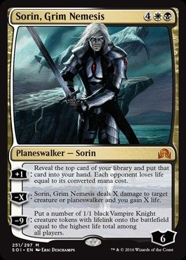 Magic: the Gathering - Sorin, Grim Nemesis (251/297) - Shadows Over Innistrad