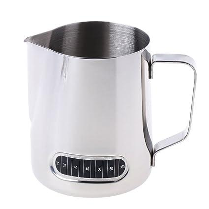 GROOMY Jarra de café de Acero Inoxidable espumante de Leche Barista Jarra de café con termómetro
