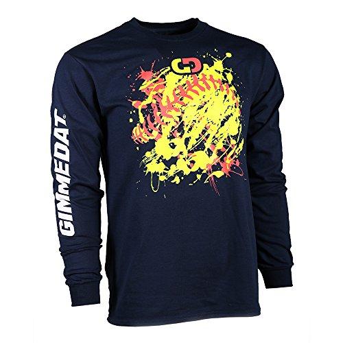 (GIMMEDAT Customizable! Softball Explosion Long Sleeve Softball T-Shirt (X-Large Customized))