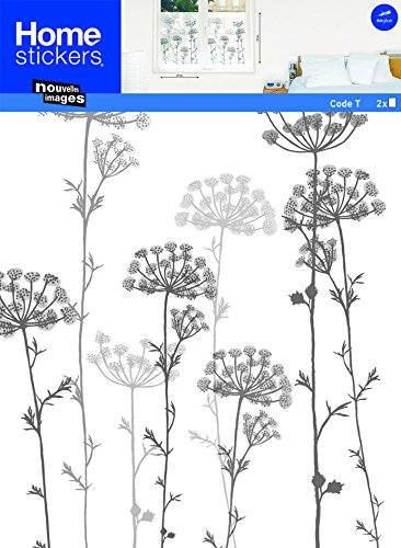 Nouvelles Images HOWI1814 Lelace Flowers Frosted Window (Frosted Art)