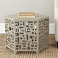 Safavieh American Homes Collection Kelby Pearl Taupe End Table