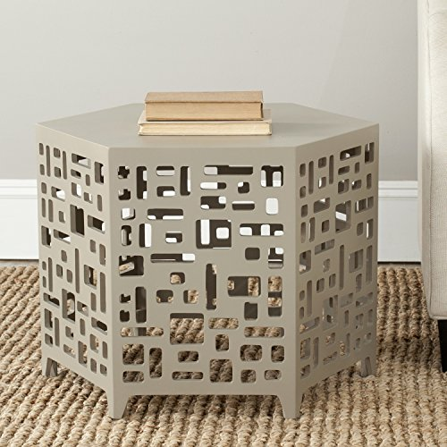 Safavieh American Homes Collection Kelby Pearl Taupe End Table ()