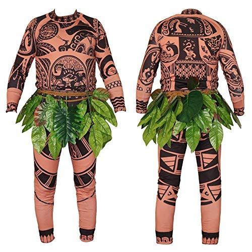 Unisex Maui Tattoo Clothing/Maui Suit Pants Halloween Adult Maui Men's Women's Cosplay Costume (S, ()