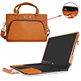 "XPS 15 9560 9550 Case,2 in 1 Accurately Designed Protective PU Leather Cover + Portable Carrying Bag For 15.6"" Dell XPS 15 Series 9560 9550 Laptop,Brown"