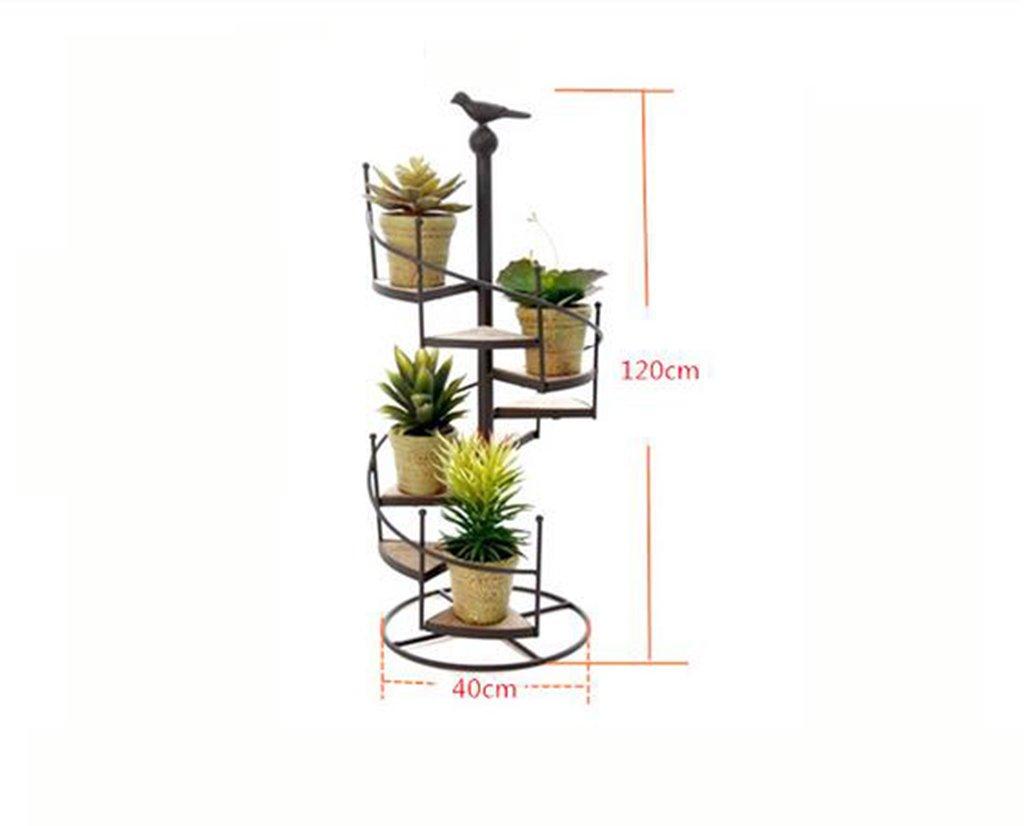 フラワーラック、鉄ソリッドウッド複数のレイヤーバルコニーリビングルーム植物フラワーポットラック ( サイズ さいず : 40cm*120cm ) B074TB2N8V   40cm*120cm