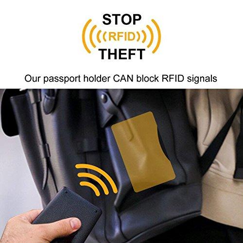 Dark Brown S/úper Delgada y Ligera Carcasa de Cuero Sint/ético Superior Protector con Bloqueo RFID para Pasaporte Fintie Funda para Pasaporte