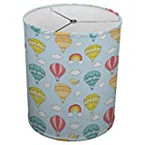 Hardback Linen Drum Cylinder Lamp Shade 8'' x 8'' x11'' Spider Construction [ Hot Air Balloon ]