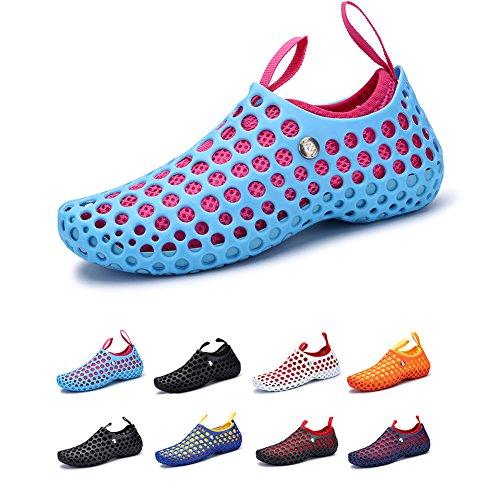 HooyFeel Multifunction Clogs Sandals, Outdoor Mesh Hollow Garden Shoes, Unisex Slip on Water Shoes Aqua - Daily Garden Clog