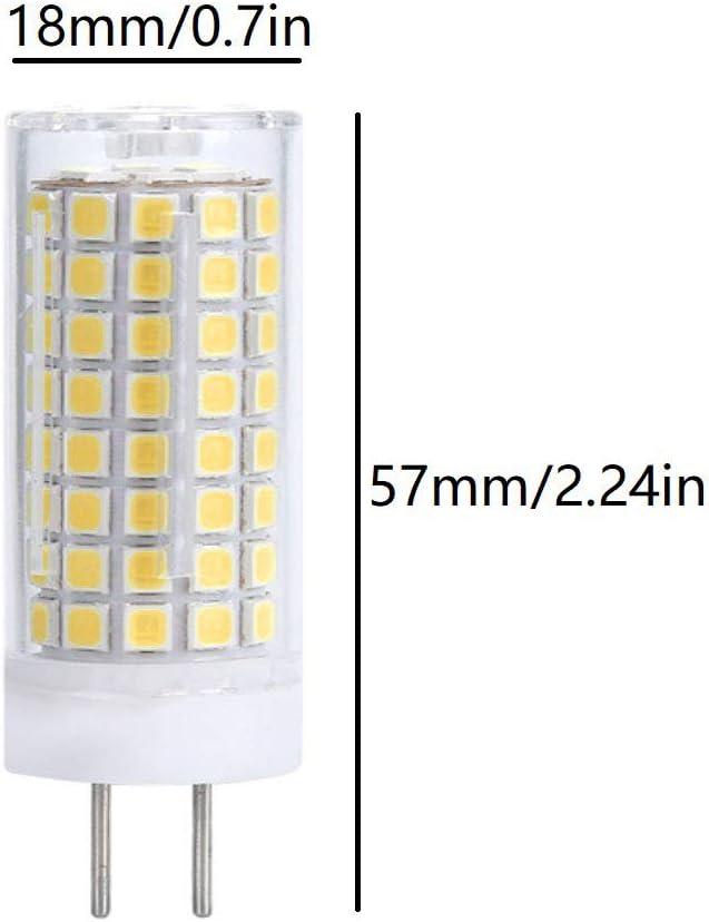 - 2835 SMD 102 LEDs 90W Equivalent Warm White 3000K G6.35//GY6.35 Base T4 JC Type 1000LM for Desk Lamp Accent Landscape Lighting AC 110V 4 Pack LXcom GY6.35 LED Bulb 10W Dimmable Corn Light Bulb