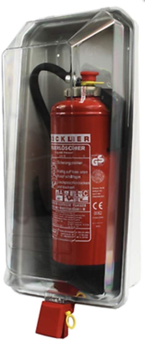 Klarsichtschutzbox f/ür 6kg Feuerl/öscher Feuerl/öscherkasten Box Schnellverschlussvon MBS-FIRE/®