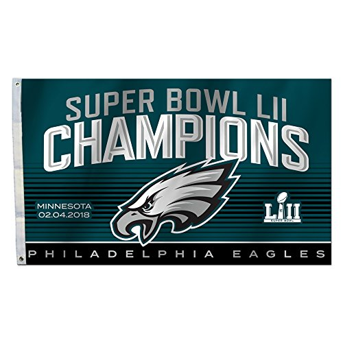 Fremont Die NFL Philadelphia Eagles Super Bowl 52 Champions 3 x 5-Foot Flag