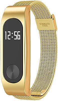 Simpeak Correa Compatible con Xiaomi Mi Band 2 (5.5-8.1 Pulgadas), Pulseras de Acero Inoxidable Wristband Repuesto Bandas Compatible con Xiaomi Mi ...