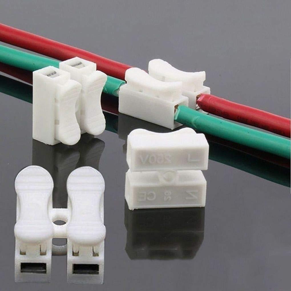 Level Tornillos 40PCS Primavera Conector del Cable eléctrico Alambre de Soldadura Sin Abrazadera de Bloque de terminales de Empalme Tornillos de los ...