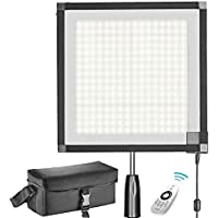 Neewer Foldable 256 LED Lighting Panel on Frabic, with 2.4G  4-Channel Remote Control and AC,  for Video Photography, YouTube, Beauty Blogger