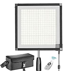 Neewer Foldable LED Light Panel Mat on Frabic 5600K 256 LED Lighting Panel with 2.4G 4-Channel Remote Control, Diffuser Cloth, Hand Grip and Portable Bag for Potrait Video Outdoor Photography