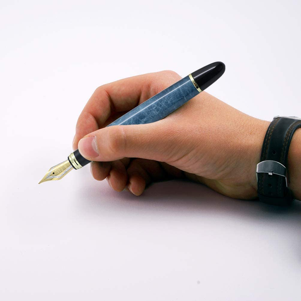 3pcs jinhao X450 Penna stilografica Set in 3 colori 18KGP pennino medio calligrafia penne da regalo