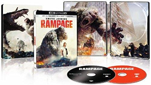 Rampage 4K Ultra HD + Blu-Ray SteelBook Best Buy Exclusive Dwayne Johnson Rock