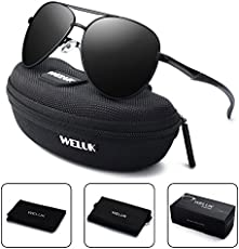 f46603967c WELUK Aviator Sunglasses for Men Polarized Military ...
