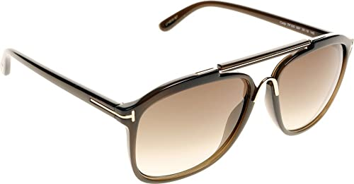 d7e47161bb Image Unavailable. Image not available for. Colour  Tom Ford 0300S 98P  Brown Cade Square Aviator Sunglasses ...