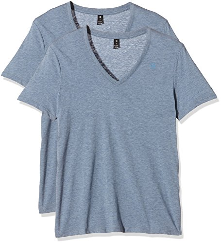 G-Star Herren Base T-Shirt, Blau (light cloud heather), S(UK)
