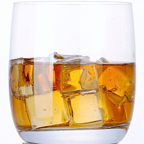 Glass Highball Base - Le'Dom Handmade Thin Crystal Rock Heavy Base Whiskey Glass, Set of 2
