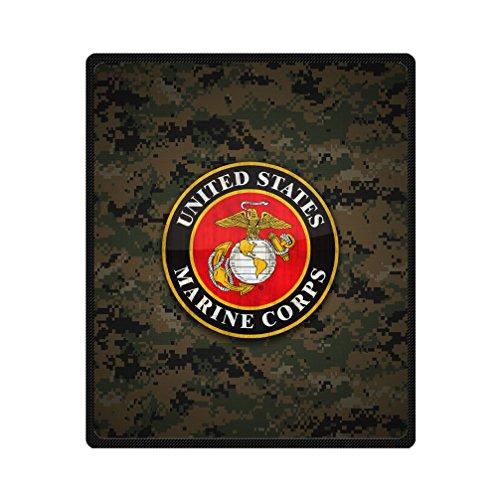 JIUDUIDODO Home Bedding Beautiful Keep Warm Thanksgiving Day Gifts United States Marine Corps USMC