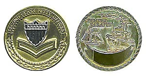 Coast Guard Petty Officer 2nd Class Challenge Coin by Military Productions