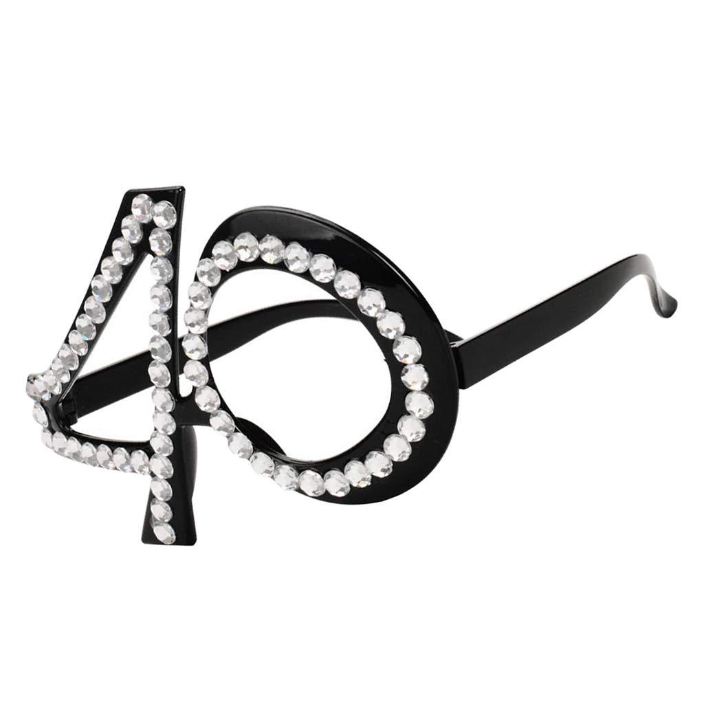 F Fityle - Gafas de cumpleaños de 30 a 40 años, 50 a 60 años ...