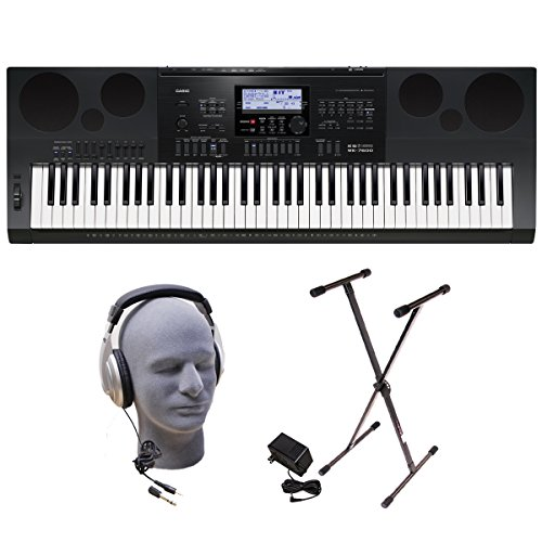 Casio WK-7600 PPK 76-Key Premium Portable Keyboard Package with Headphones, Stand and Power Supply