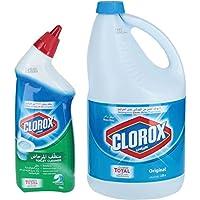 Clorox Original Gallon, 3.78 Liter + Fresh Scent Toilet Cleaner, 709ml
