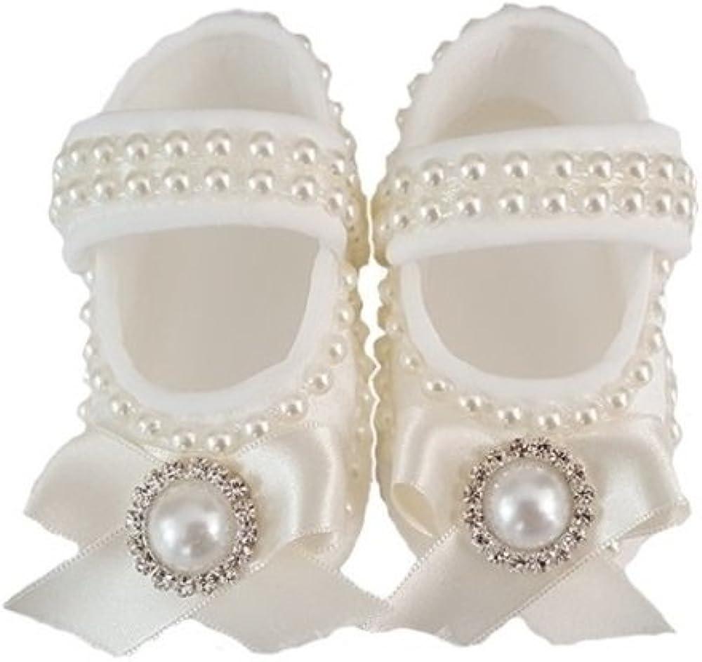 fatu Pearly White Baby Slippers