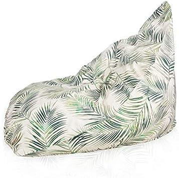 Italpouf - Puf Saco Exterior para Asiento Bermuda XL para Exterior, Impermeable, puf para jardín de Nailon desenfundable, puf Acolchado: Amazon.es: Hogar