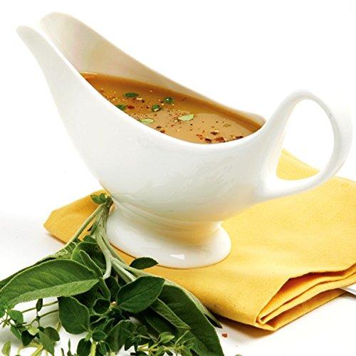 Norpro Kitchenware Gravy Sauce Boat,Fiesta Vintage Gravy Boat,Fine White Porcelain,16 Ounce by Norpro Kitchenware (Image #3)