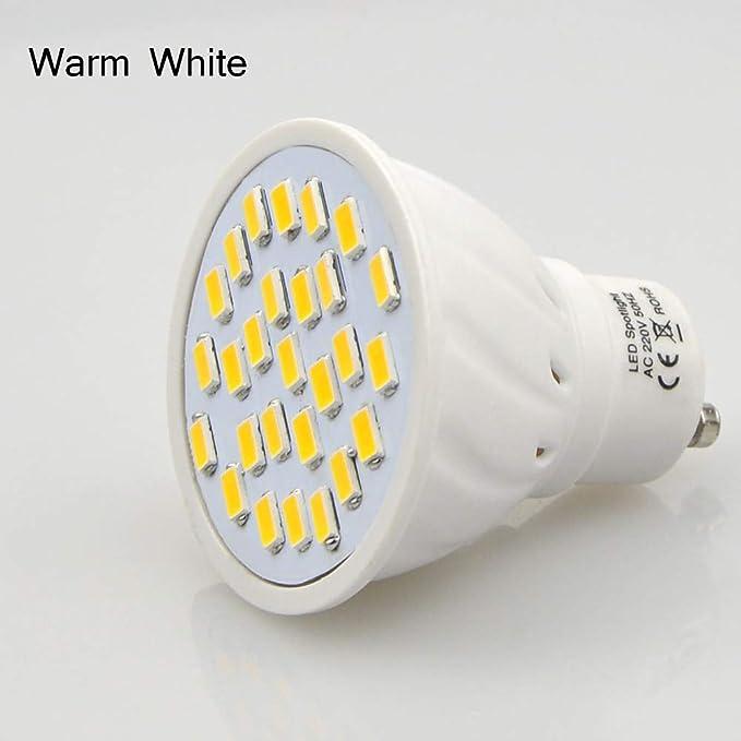 Xligo 1PC Energy Saving Bombillas LED GU10 220V 7W Spotlight Replace Incandescent Bulbs 5730 SMD Lampada LED lamp linternas Lighting - - Amazon .com