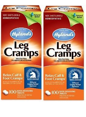 Hyland's Leg Cramp Tablets, Natural Relief of Calf Cramps, Foot Cramps and Leg Cramps, 100 Count (2 boxes)