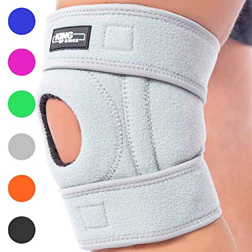 (Patella Stabilizing Knee Brace for Women, Men, Meniscus Tear, Arthritis Pain and Support, Acl, Running, MCL, Tendonitis, Runners, Athletic, Stabilizer, LCL - Adjustable Neoprene Open Knee Sleeve)