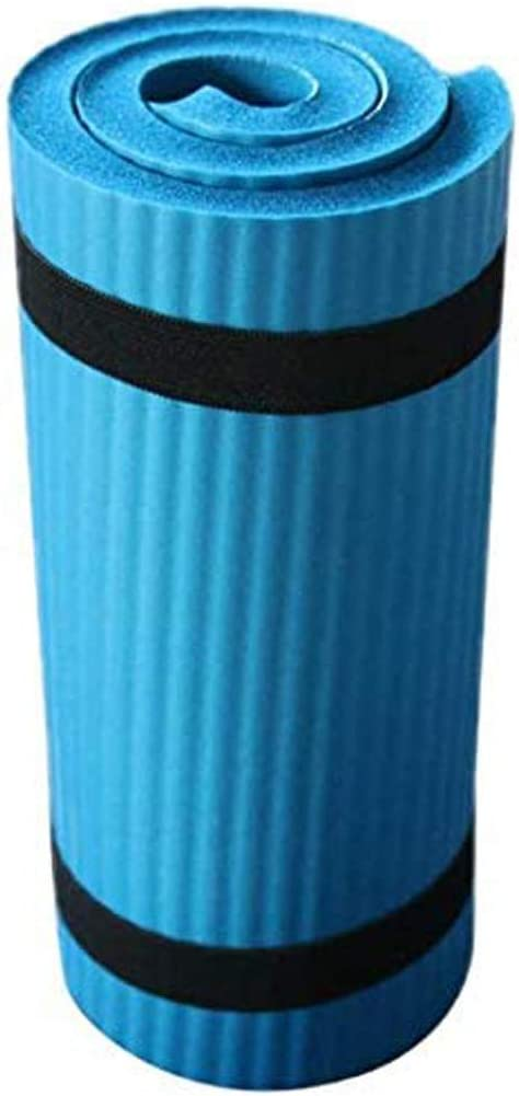 Youmymine Yoga Mat Extra Thick Non Slip Durable Portable Exercise & Fitness Mat for All Types of Yoga, Pilates & Floor Workouts (Blue, one Size)
