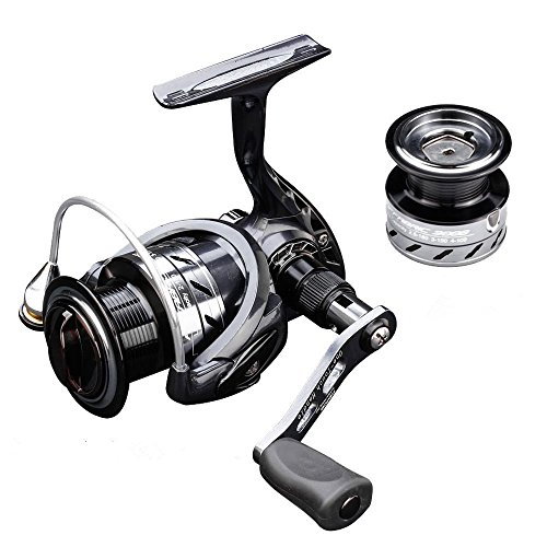 BARSDAR AF 2500 Series Fishing Reels Spinning Reels, 9+1 Superior Ball Bearings Spinning Fishing Reel, Ultra Smooth Powerful Drag Fishing Reel with 1 Extra 3000 Series Aluminum Spool